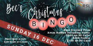 Bec's Christmas BINGO @ Cooroy RSL